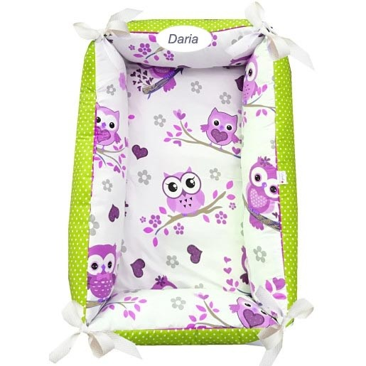 Reductor Personalizat Bebe Nest Deseda Bufnite cu mov