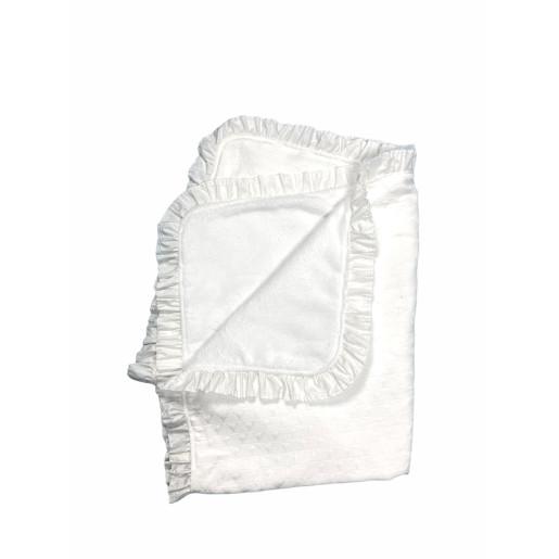 Paturica dubla din brocard alb