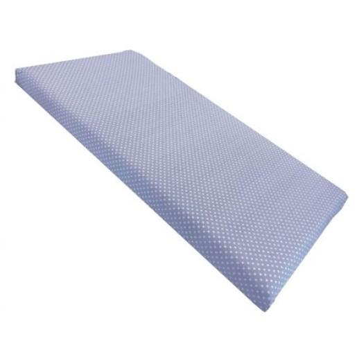 Cearsaf de pat cu elastic roata, imprimeu Buline pe albastru
