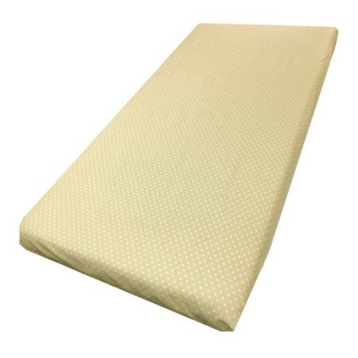 Cearsaf de pat cu elastic roata, imprimeu Buline pe crem