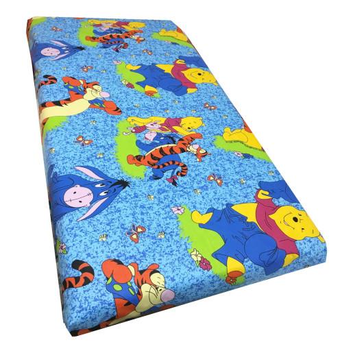 Cearsaf de pat cu elastic roata, imprimeu Aiurila albastru