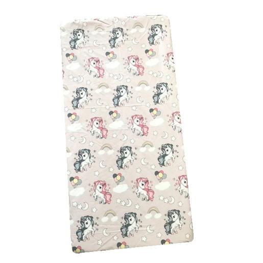 Set 3 piese cu cearsaf paturica si perna Unicorni