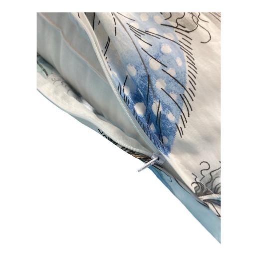 Perna de gravide si alaptare cu husa detasabila Deluxe Pene albastre