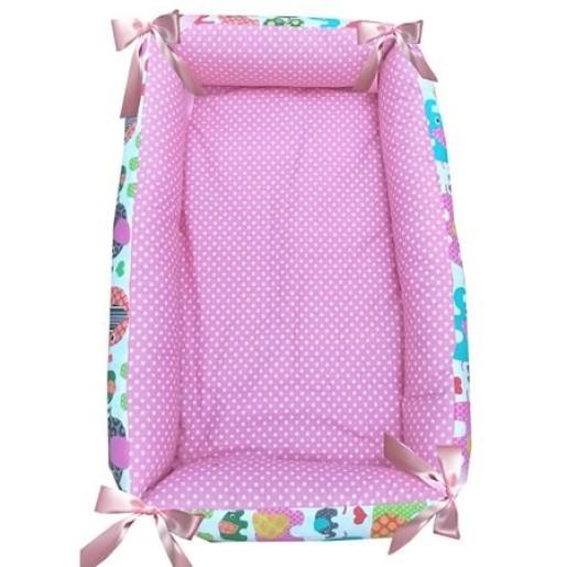 Reductor Bebe Bed Nest cu paturica si pernuta antiplagiocefalie Deseda Elefantei