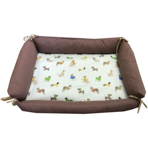 Culcus personalizat multifunctional impermeabil cu saltea pentru caini si pisici Deseda marime M Catelusi