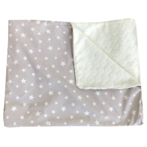 Reductor Bebe Bed Nest cu paturica si pernuta antiplagiocefalie Deseda Stelute pe gri