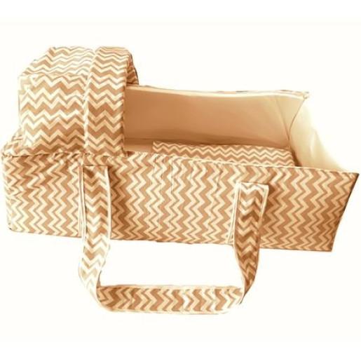 Landou pentru transportul bebelusilor Deseda Zig-Zag Bej