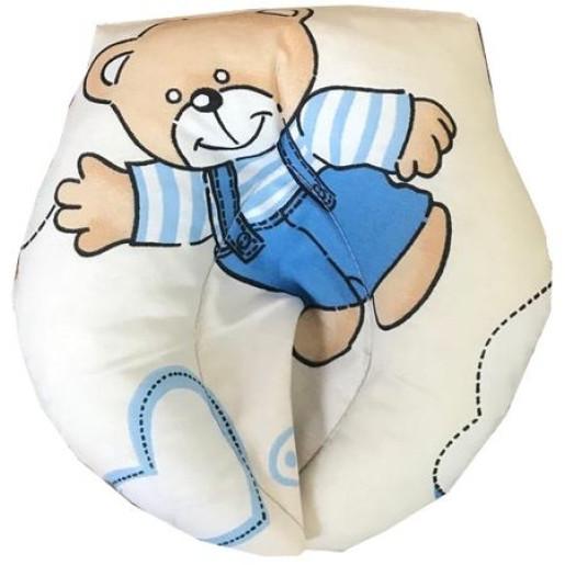 Set antiregurgitare si pozitionare cu plan inclinat pentru bebelusi Deseda Ursuleti pe crem