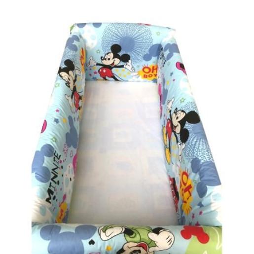 Aparatori laterale protectii pat 140x70 cm Deseda Maxi Mickey