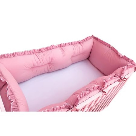 Set aparatori protectii laterale Super groase, pat 120x60 cm Deseda - Roz