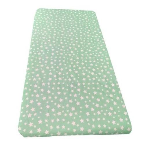 Cearsaf de pat cu elastic roata, imprimeu Stelute pe vernil