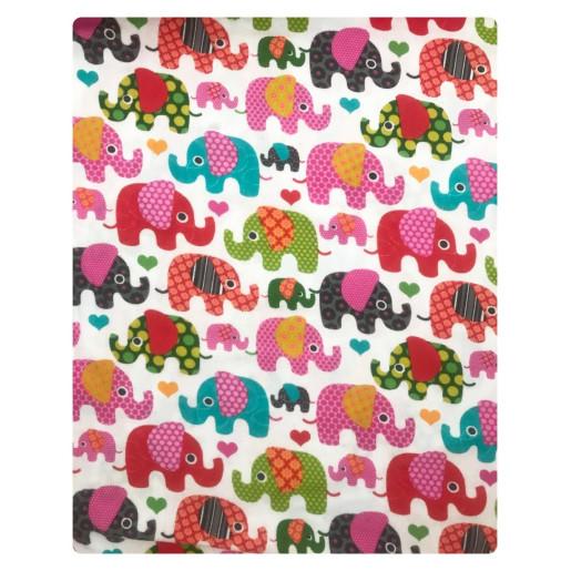 Prosopel dublu 70x100 cm cu capison din finet Deseda Elefantei roz