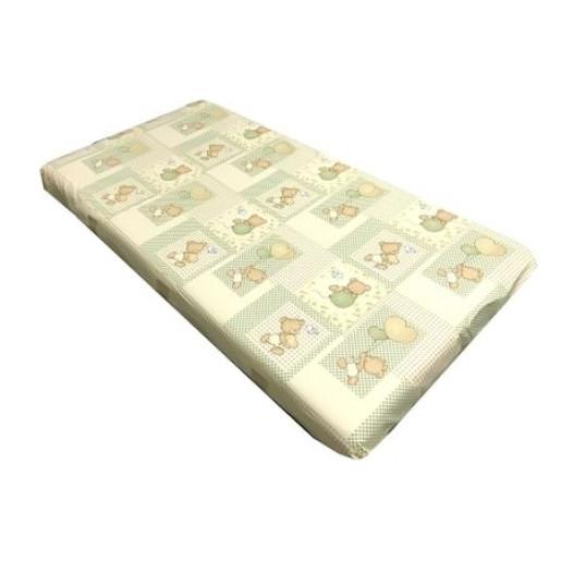 Cearsaf de pat cu elastic roata, imprimeu Ursuleti pe bej