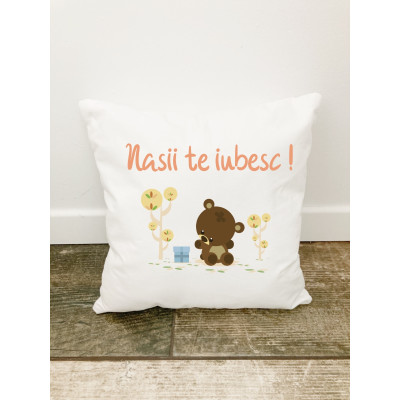 Husa perna Personalizata decorativa Urs în Padure