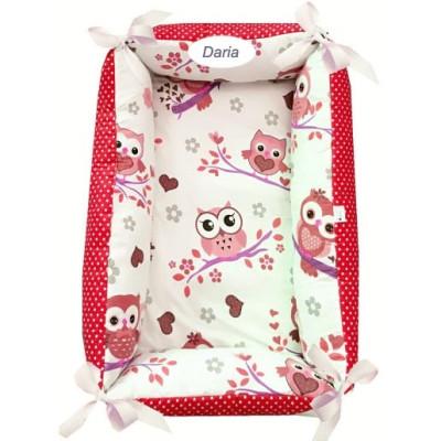 Reductor Personalizat Bebe Nest Deseda Bufnite cu rosu
