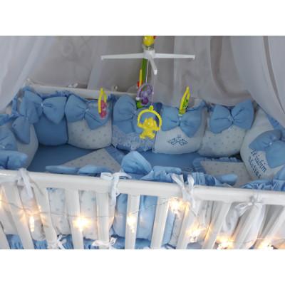 Aparatori din 13 pernute LUX by Deseda Albastru