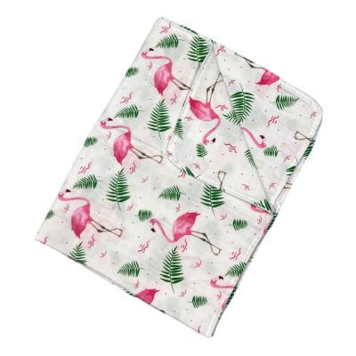 Paturica dubla de muselină Flamingo