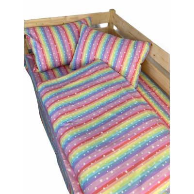 Lenjerie de pat pt 2 persoane Deseda Curcubeu