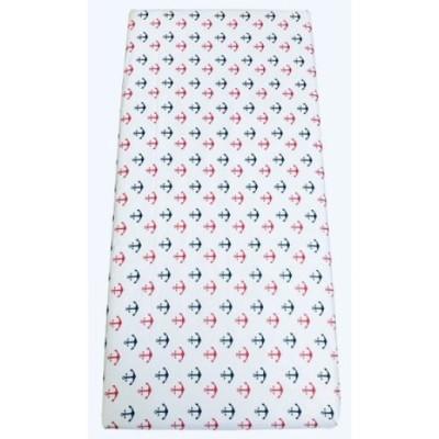 Cearsaf de pat cu elastic roata, imprimeu Ancore