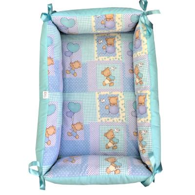 Reductor Bebe Nest Deseda Ursi in carouri pe albastru