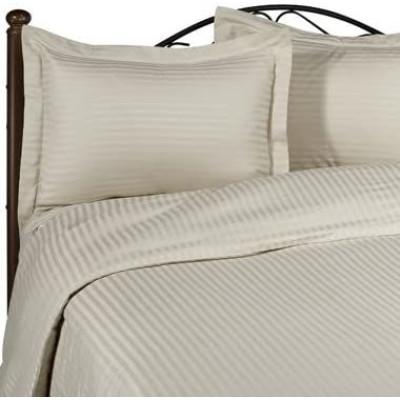 Lenjerie de pat 2 persoane Damasc triplu satinat Bej LUX by Deseda