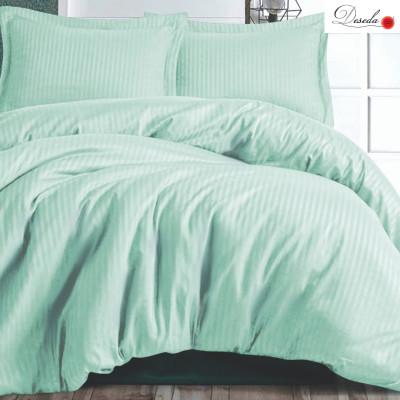 Lenjerie de pat 2 persoane Damasc triplu satinat Verde menta LUX by Deseda