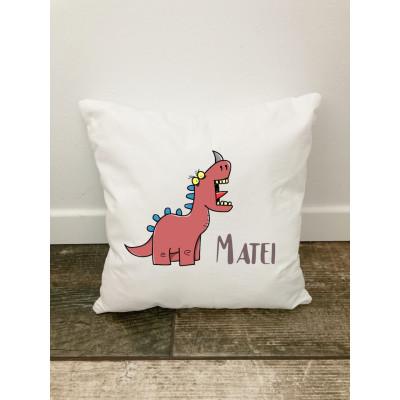 Husa perna Personalizata decorativa Dinozaurul Matei