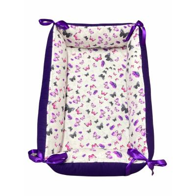 Reductor Personalizat Bebe Nest Deseda Violet - Fluturi gri-mov