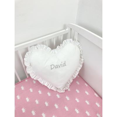 Perna decorativa Personalizata imprimată Inimioara cu volanase