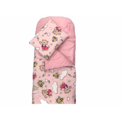 Sac de dormit buzunar de iarna Deseda Ursi cu albine pe roz