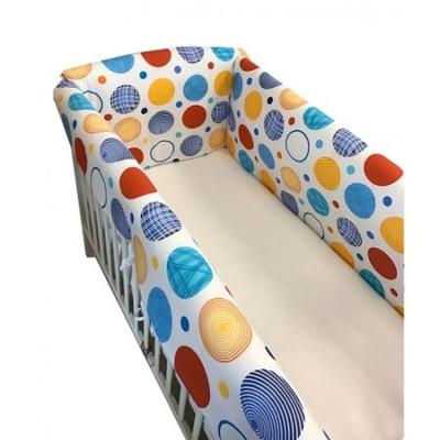 Aparatori laterale protectii pat 120x60 cm Deseda Maxi Cerculete colorate