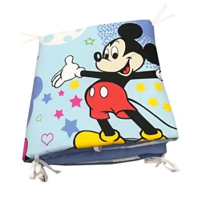 Aparatori laterale protectii laterale pat pufoase 120x60 cm h39cm Deseda Mickey Mouse