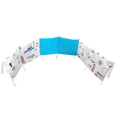 Aparatoare protectii laterale pat pufoase 120x60 cm h28cm Deseda Mix Marin