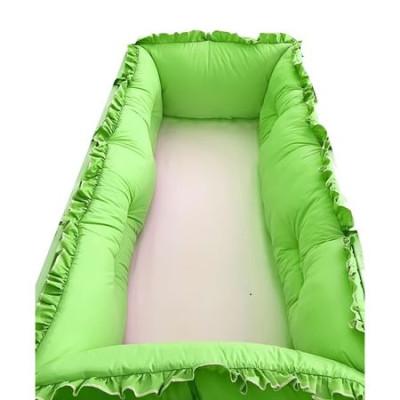 Set aparatori protectii laterale Super groase, pat 120x60 cm Deseda - Verde