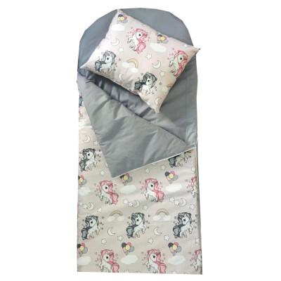 Sac de dormit buzunar de iarna 4-9 ani ani Deseda Unicorni cu gri