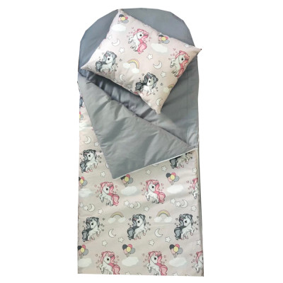 Sac de dormit buzunar de iarna +10 ani ani Deseda Unicorni cu gri