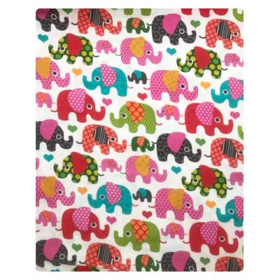 Plapuma din finet 140x110 cm Deseda Elefantei roz