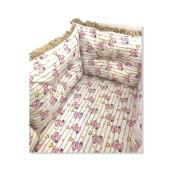 Set de 6 bucati aparatori protectii laterale patut Deseda Ursi cu inimioare, roz