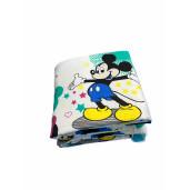 Aparatori laterale protectii laterale pat pufoase 120x60 cm h35cm Deseda Mickey si Minnie pe alb