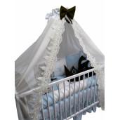 Lenjeria cu 6 pernuțe cearșaf, păturică și bumper Arabic Lux by Deseda Bleo pal