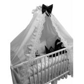 Lenjeria cu 6 pernuțe cearșaf, păturică și bumper Arabic Lux by Deseda Gri pal