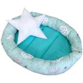 Cuib baby nest bebelusi forma ovala Vernil cu norisori si luna