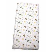 Cearsaf de pat cu elastic roata, imprimeu Aventura in spatiu