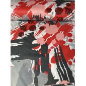 Cearsaf de pat cu elastic roata, imprimeu Pete de culoare