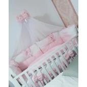 alb cu roz pal
