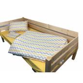 Lenjerie de pat pt 2 persoane Zig Zag cu Galben Deseda