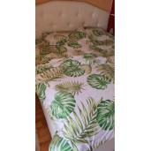 Lenjerie de pat pt 2 persoane Deseda Frunze filodendron verzi