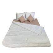 Lenjerie de pat pt 2 persoane Bej- Zig Zag bej