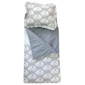 Sac de dormit buzunar Personalizat, de iarna 4-9 ani Deseda Norisori gri