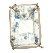 Reductor Bebe Bed Nest cu paturica si pernuta antiplagiocefalie Deseda Ursi cu albine pe crem